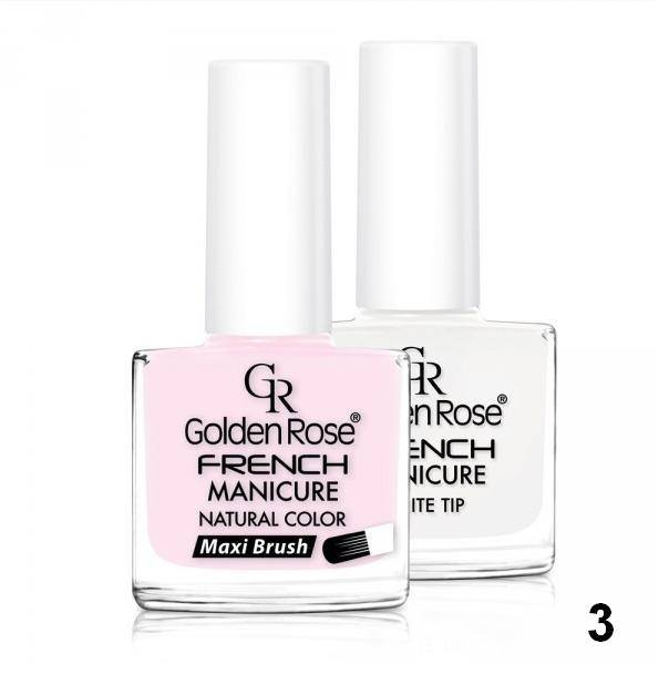 Francouzská manikúra 03 Golden Rose