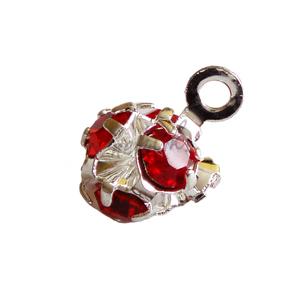 Piercing kulička s červenými kamínky