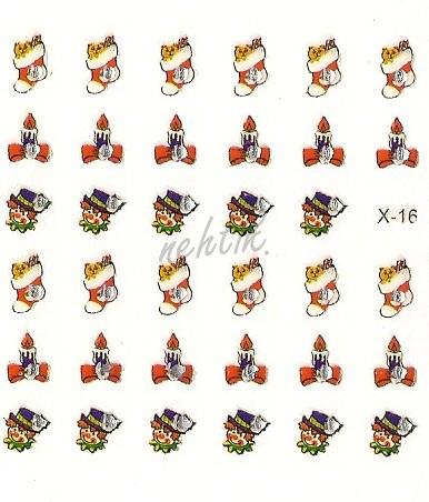 Samolepky vánoční x-16