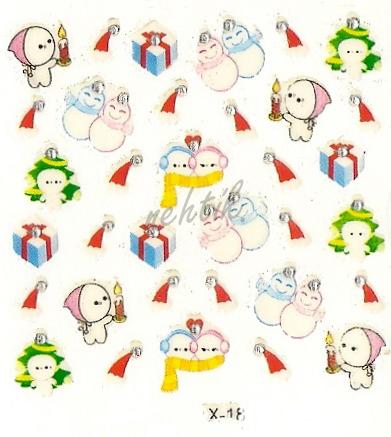 Samolepky vánoční x-18