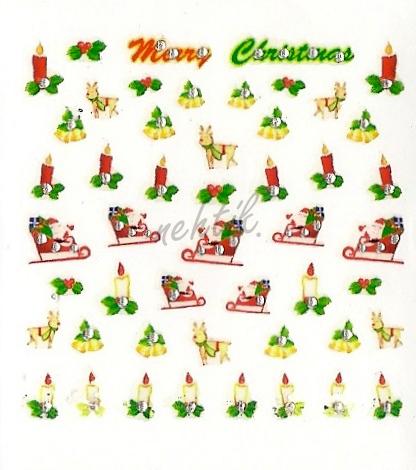 Samolepky vánoční x-29