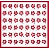 Samolepky Art na nehty kytičky červená -421-3