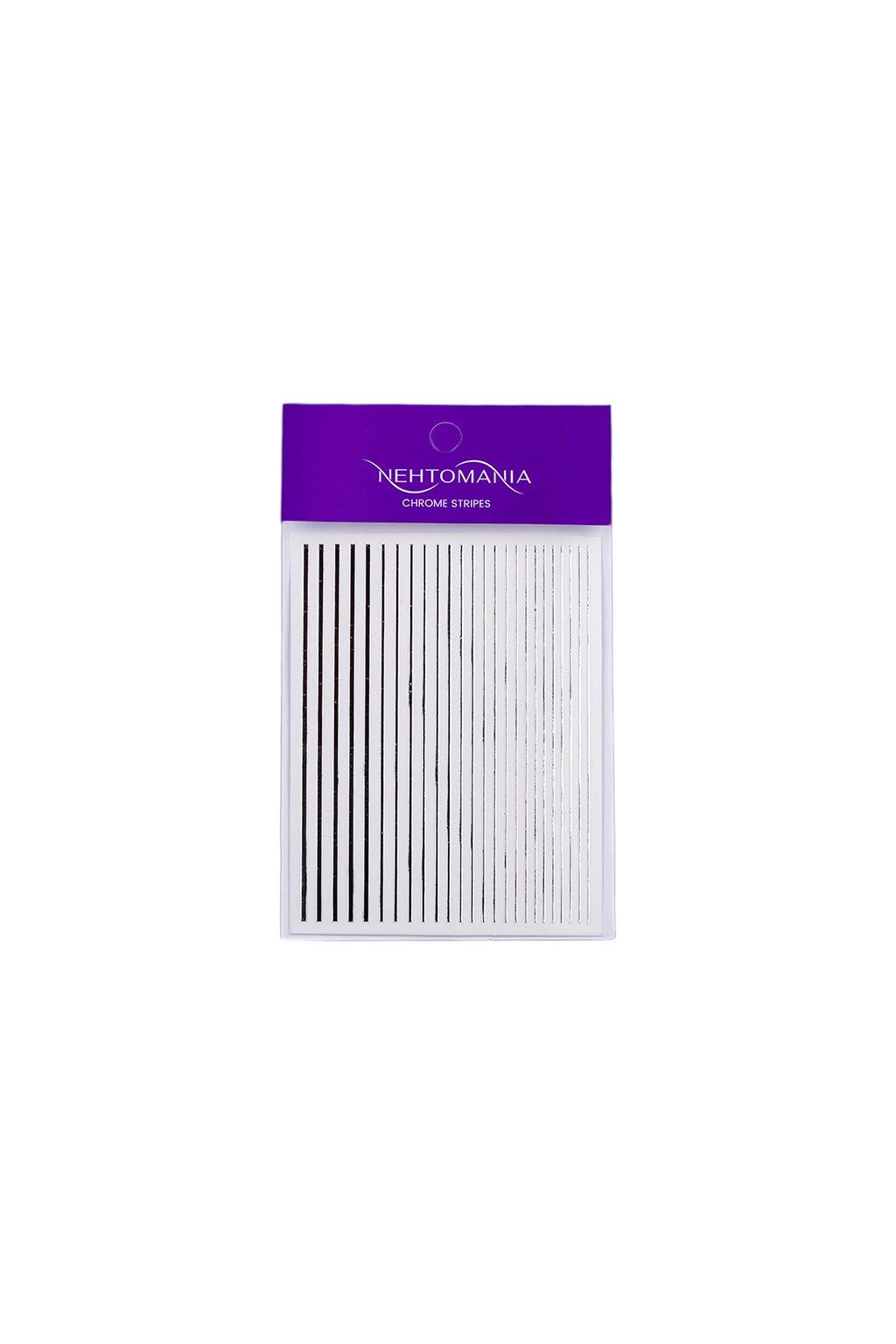 Chrome Stripes Silver originál na bílém pozadí