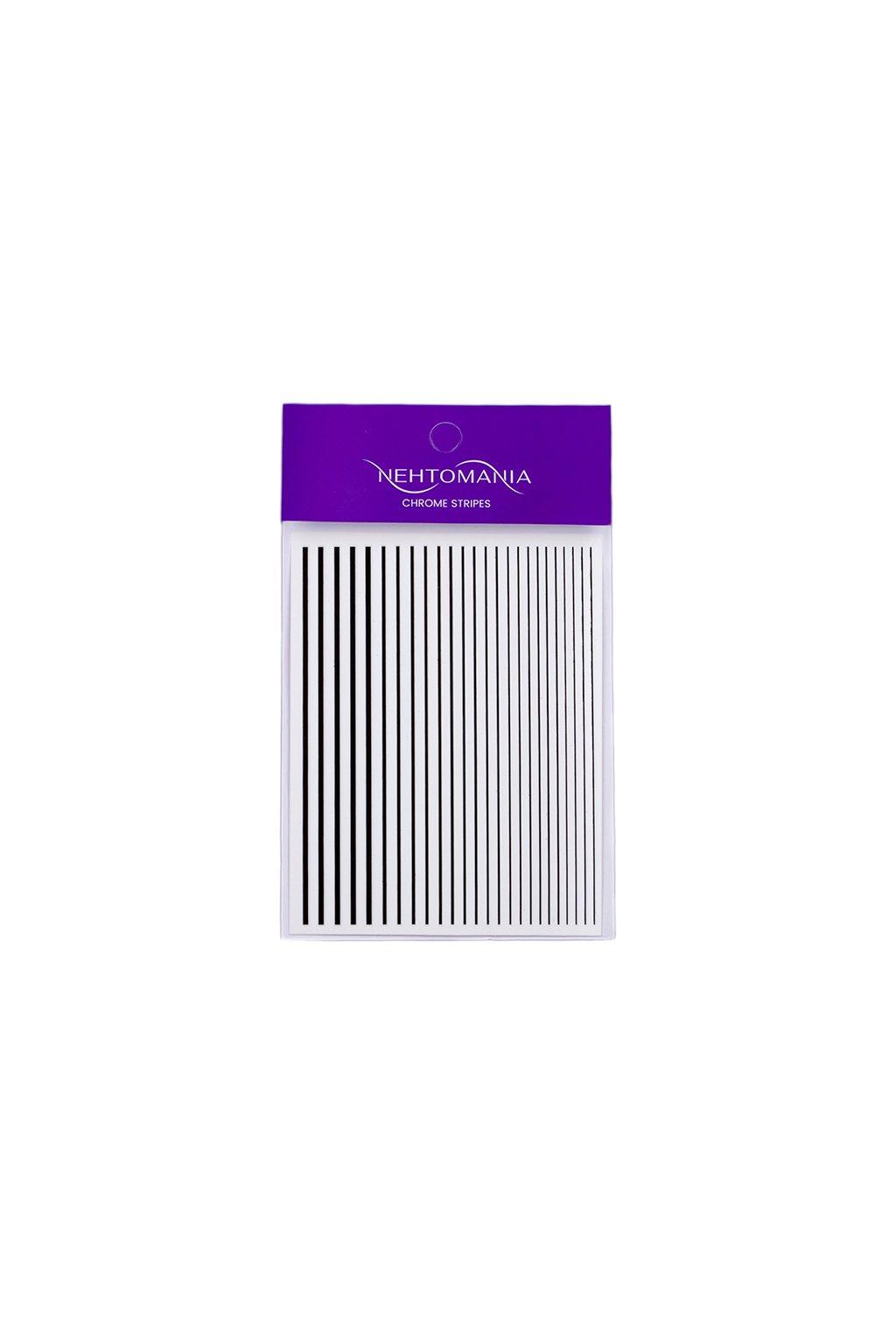 Chrome Stripes Black náhled
