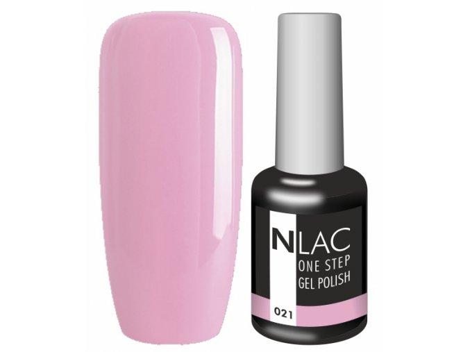 Gel lak NLAC One step 021 - starorůžová