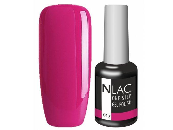 gel lak na nehty NLAC One step 017 - červená malinová