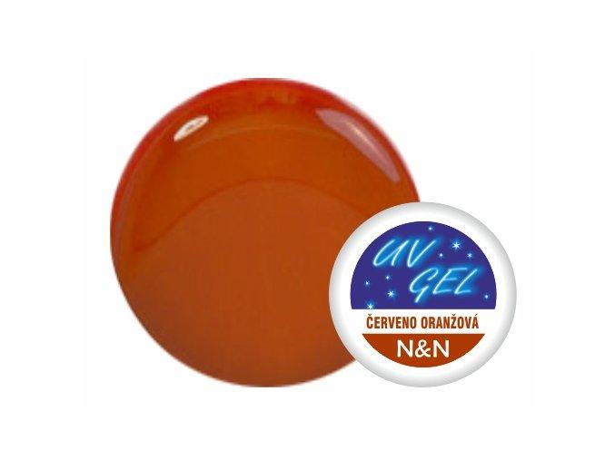 Barevný UV gel N&N 5ml - barva červeno oranžová
