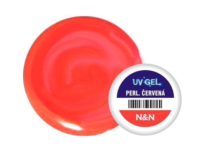 Barevný UV gel perleťový červený 5ml
