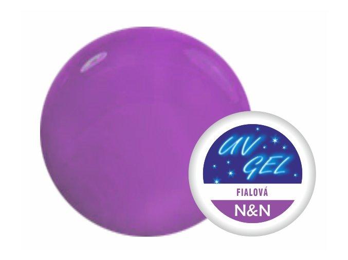 Barevný UV gel fialový 5ml