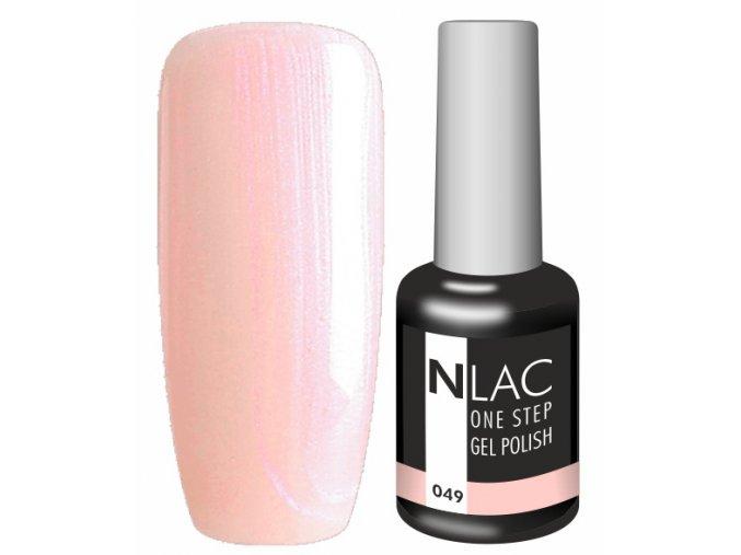 Gel lak NLAC One step 049 - perleťová růžovobroskvová
