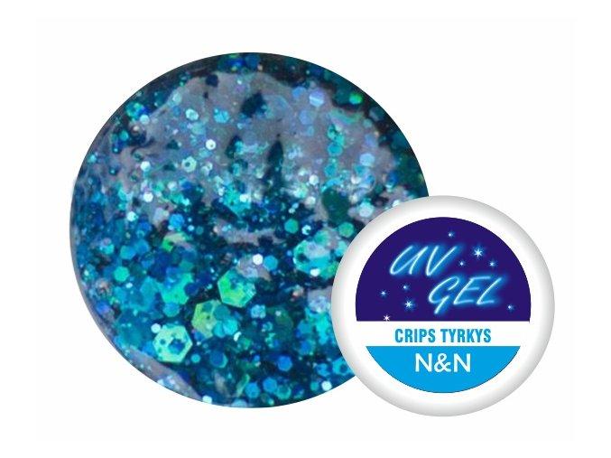 Barevný UV gel N&N 5ml - barva crips tyrkys
