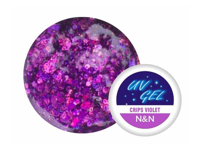 Barevný UV gel N&N 5ml - barva crips violet