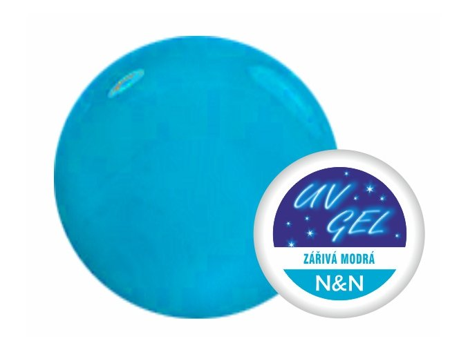 Barevný UV gel N&N 5ml - barva zářivá modrá