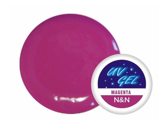 Barevný UV gel N&N 5ml - barva magenta
