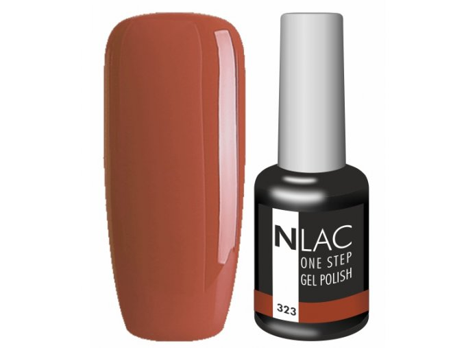 Gel lak NLAC One step 323 - skořicově hnědá