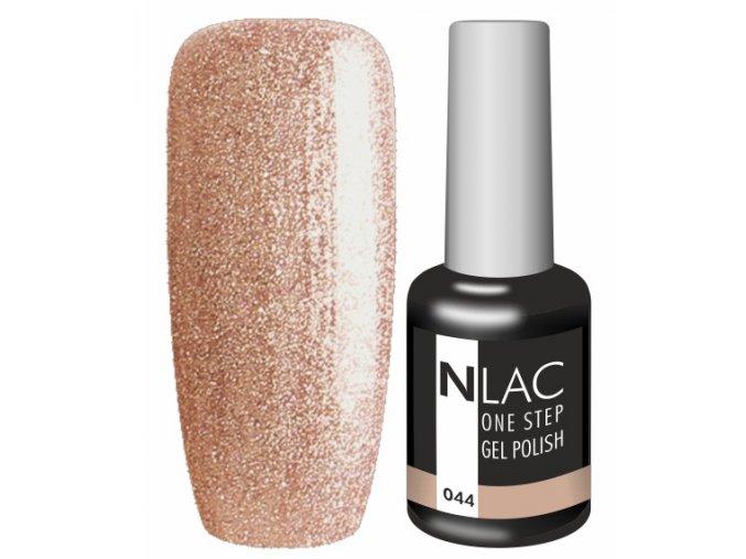 Gel lak NLAC One step 044 - zlatohnědá