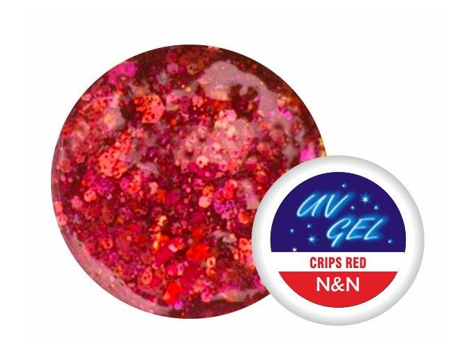 Barevný UV gel N&N 5ml - barva crips red