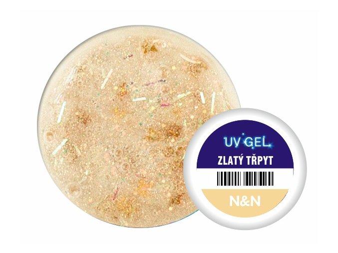Barevný UV gel N&N 5ml zlatý třpyt