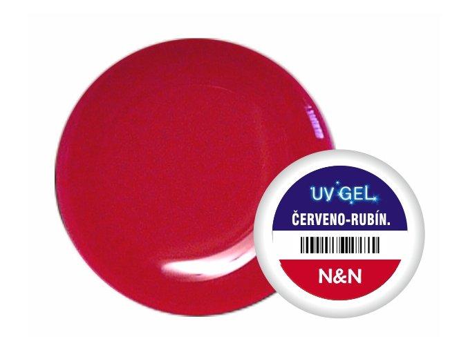 Barevný UV gel N&N 5ml - barva červeno-rubínová