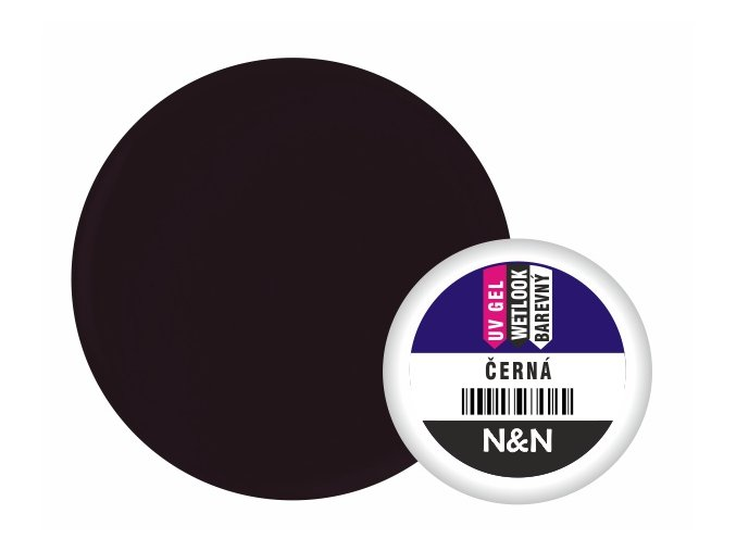 Wetlook - barevný UV gel - černá