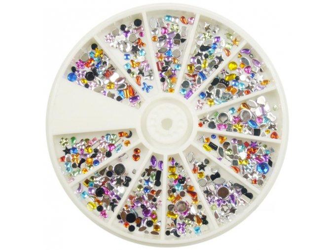 Karusel - mix různých barevných kamínků
