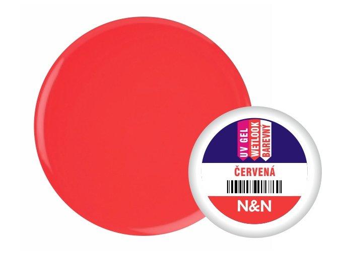 Wetlook - barevný UV gel - červená