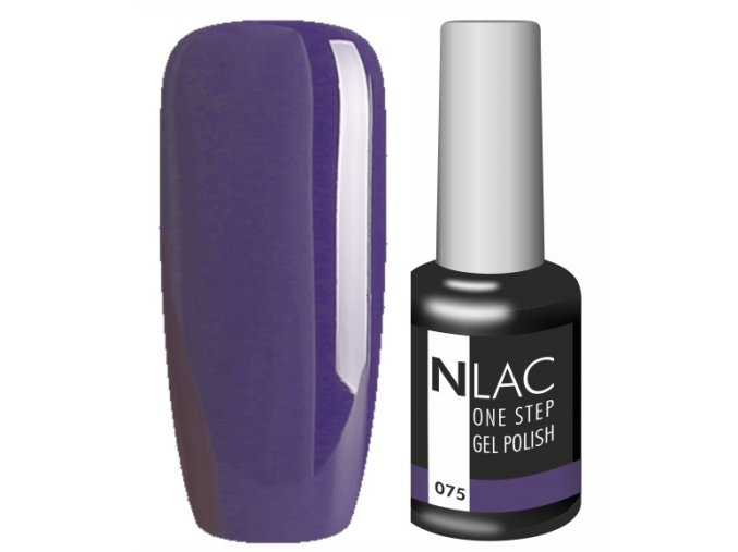 gel lak na nehty NLAC One step 075 - tmavá modro fialová