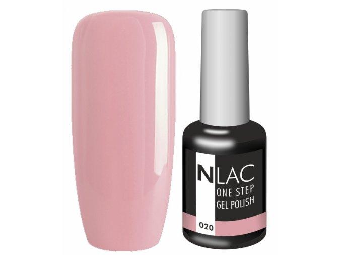 Gel lak NLAC One step 020 - natur růžová