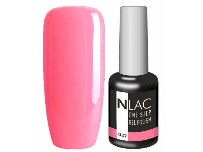 Gel lak NLAC One step 037 - růžová zářivá