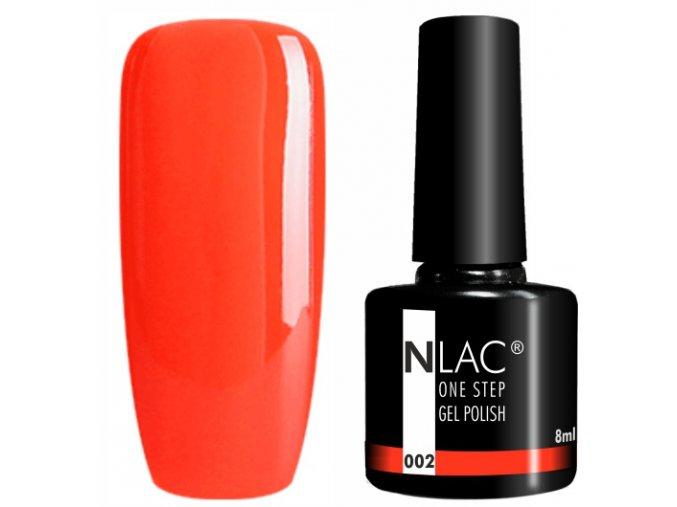 gel lak na nehty NLAC One step 002 - světle červená