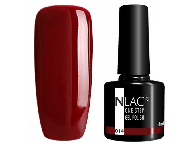 gel lak na nehty NLAC One step 014 - hnědá