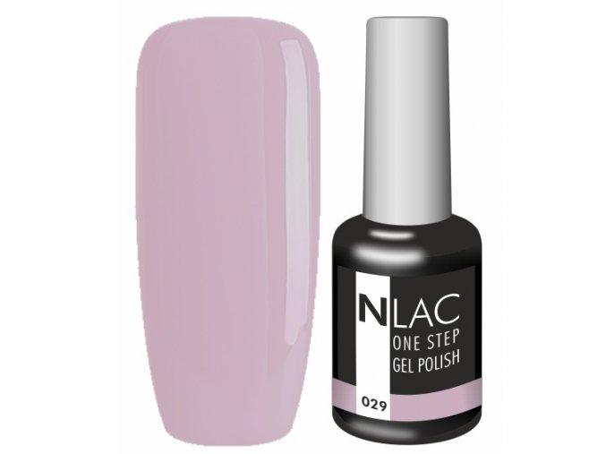 gel lak na nehty NLAC One step 029 - starorůžová