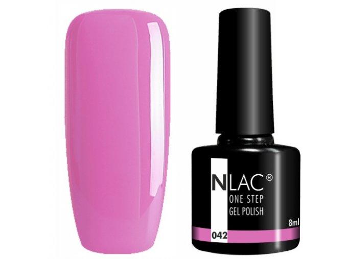 gel lak na nehty NLAC One step 042 - růžovofialová