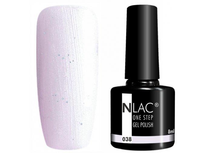 gel lak na nehty NLAC One step 038 - třpytivá ledová