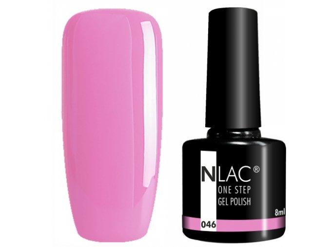 gel lak na nehty NLAC One step 046 - růžová