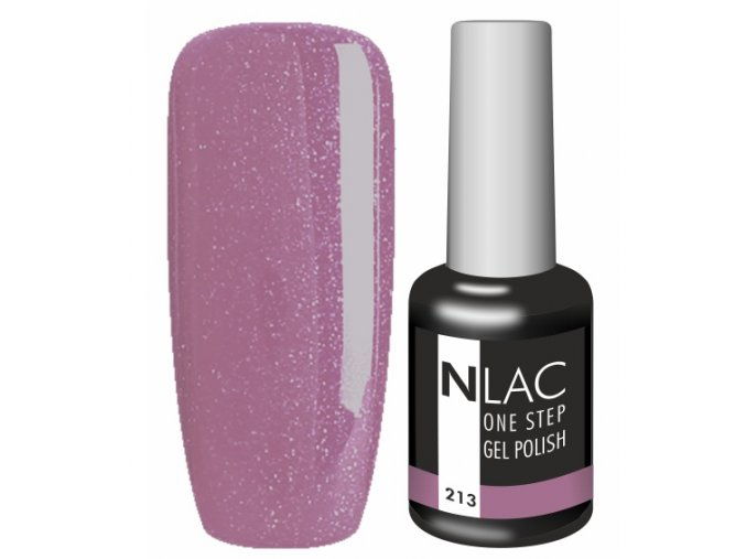 Gel lak NLAC One step 213 - glitrová temně fialová