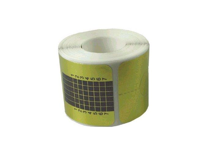 Nehtová forma na umělé nehty papírová číslovaná