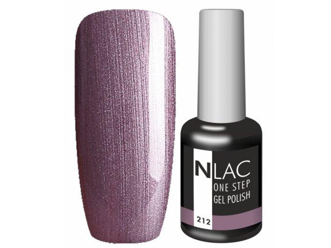 Gel lak NLAC One step 212 - perleťová šedofialová