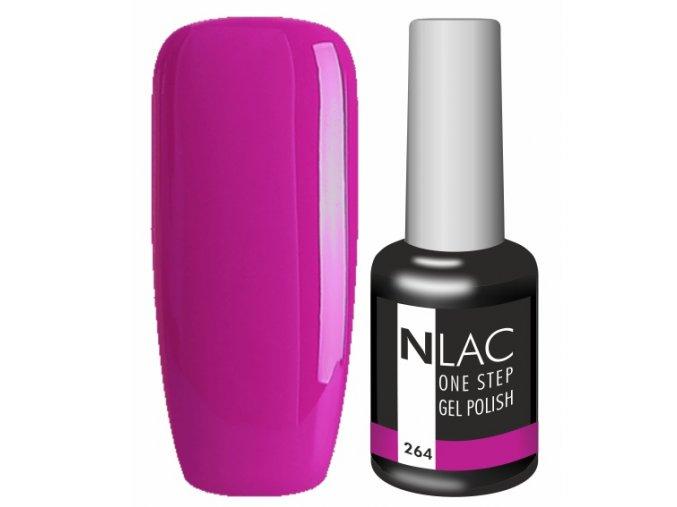 Gel lak NLAC One step 264 - fialová zářivá
