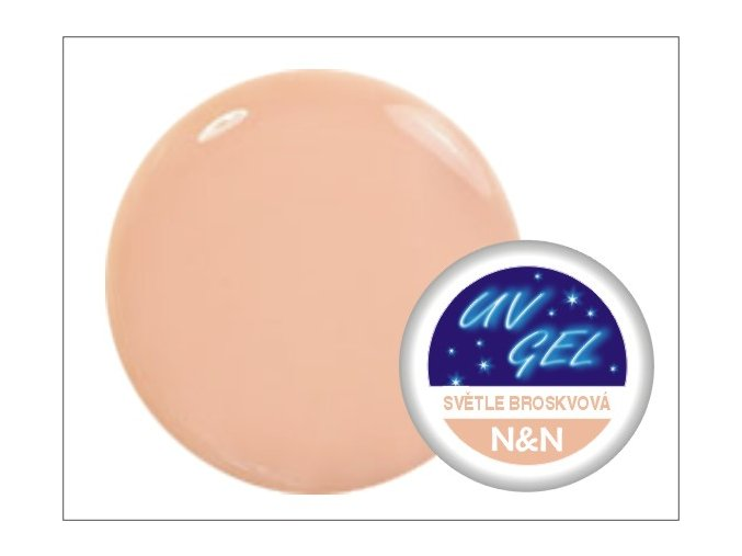 Barevný UV gel N&N 5ml - barva světle broskvová
