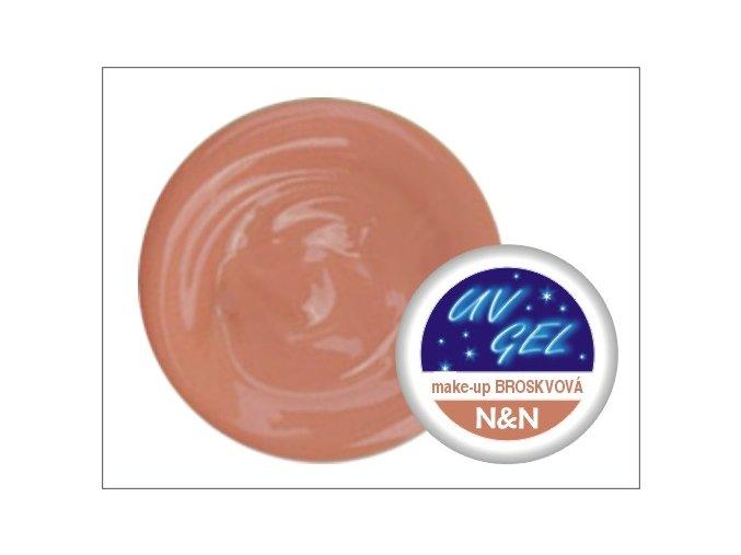Make up UV gel - kamufláž - broskvový