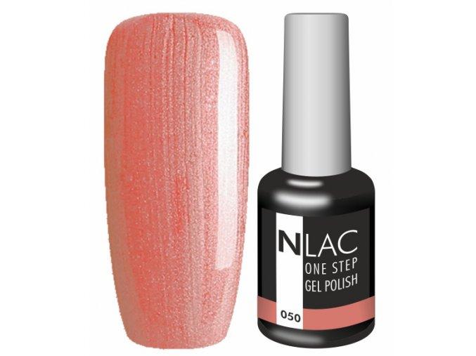 Gel lak NLAC One step 050 - perleťová lososová