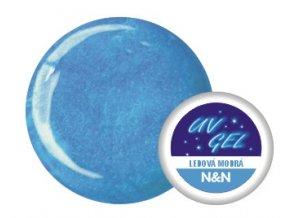 Barevný UV gel perleťový ledově modrý - 5ml