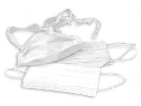 Ústenka - třívrstvá obličejová maska bílá s komfortními gumičkami
