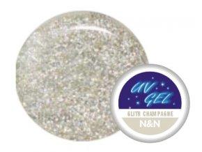 Barevný UV gel N&N 5ml - barva glitrová champagne