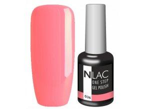 Gel lak NLAC One step 036 - oranž růžová zářivá
