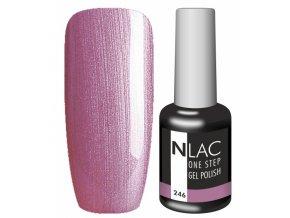 Gel lak NLAC One step 246 - perleťová nachová
