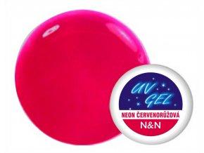 UV gel barevný neon červenorůžový 5 ml
