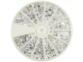 Karusel - stříbrný mix kamínků