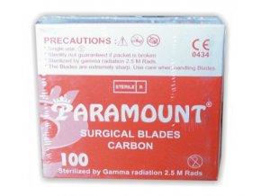 Čepelka skalpelová sterilní karbonová (PARAMOUNT)